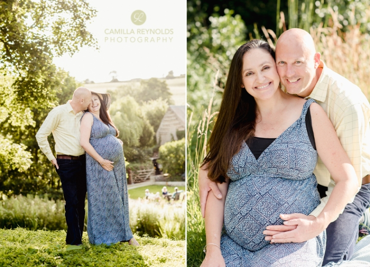 relaxed fun pregnancy couple photo shoot