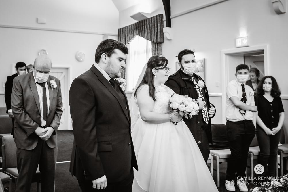 black and white wedding photo stroud ceremony