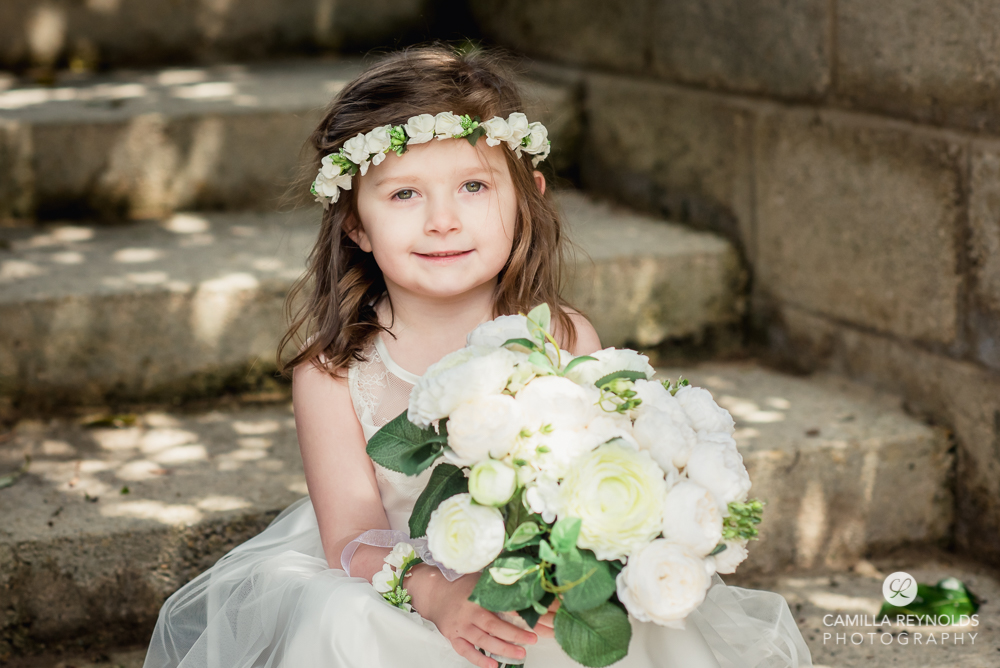 flower girl cotswold natural wedding photography