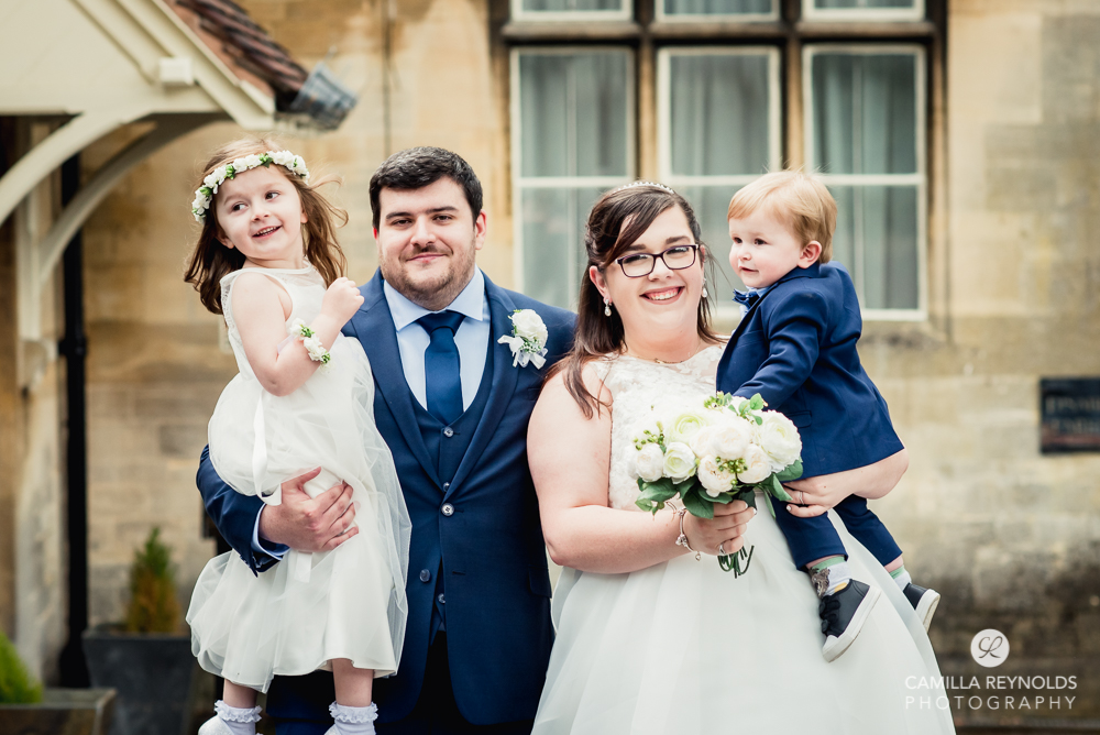 bride and groom at stroud registry wedding Gloucestershire