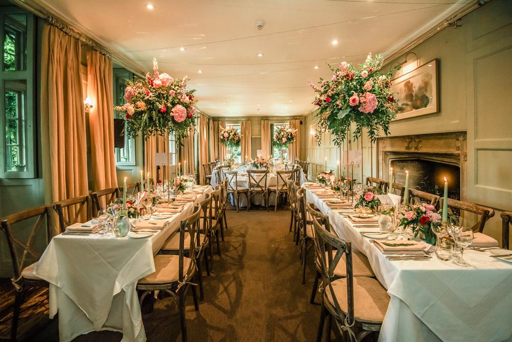 wedding table decor Barnsley house wedding uk