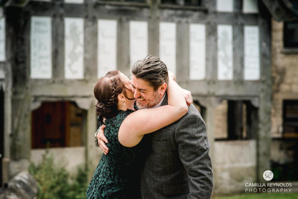 couple hugging engagement wedding photography painswick cotswolds