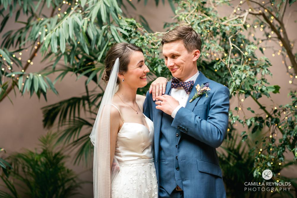 bride groom palm house orangery wedding venue uk cotswolds