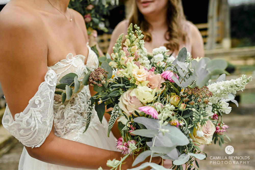 bright colourful wedding flowers Oxfordshire