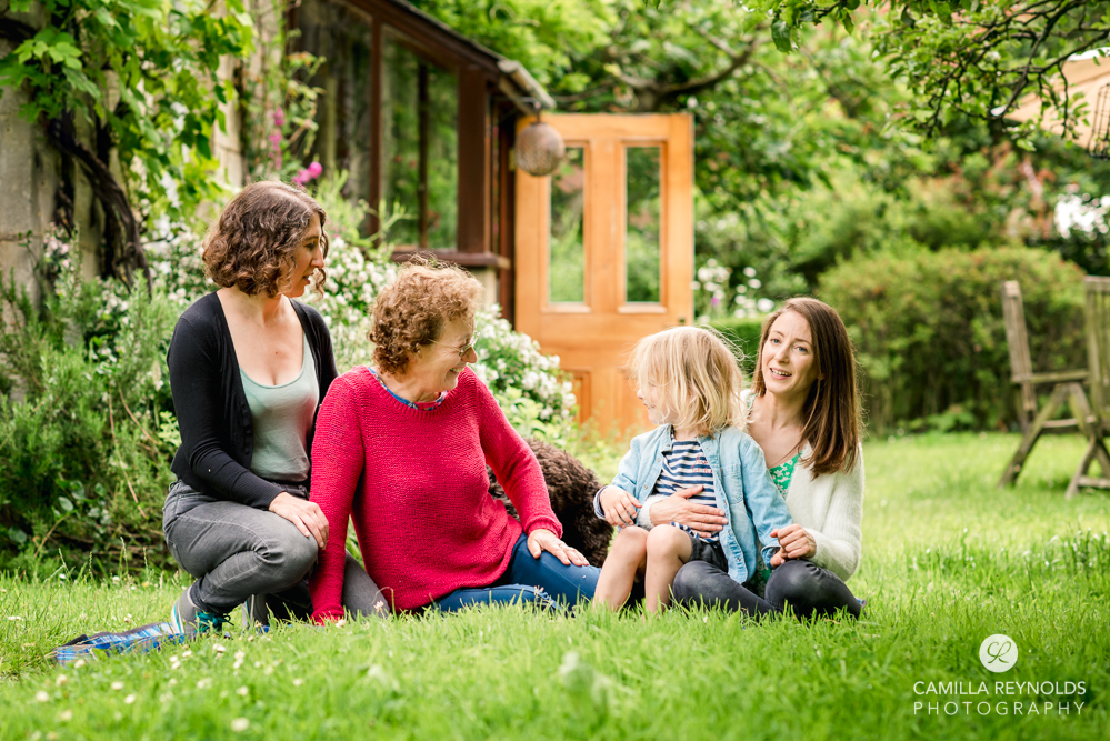 family in the garden wiltshire photography