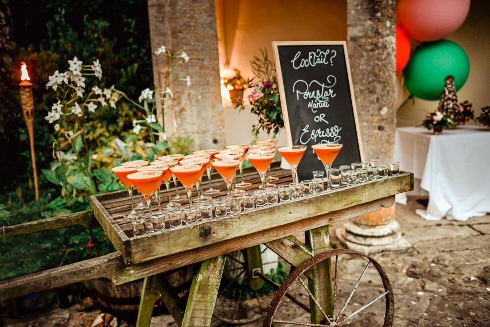 colourful cocktails vwedding photography cotswolds  uk