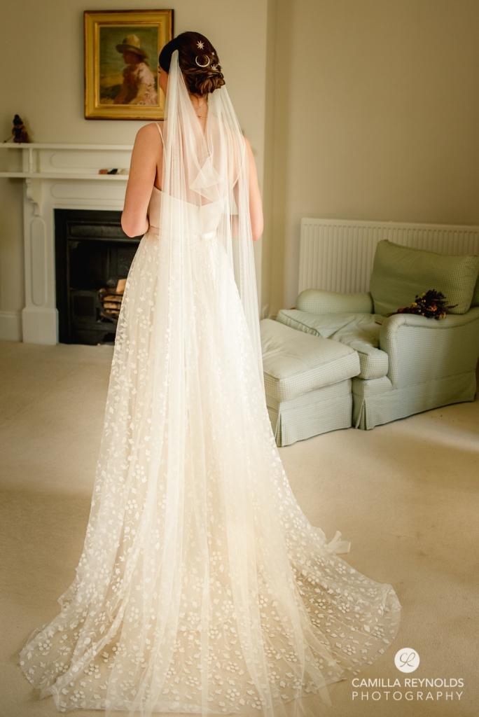 wedding dress with veil matara wedding cotswolds