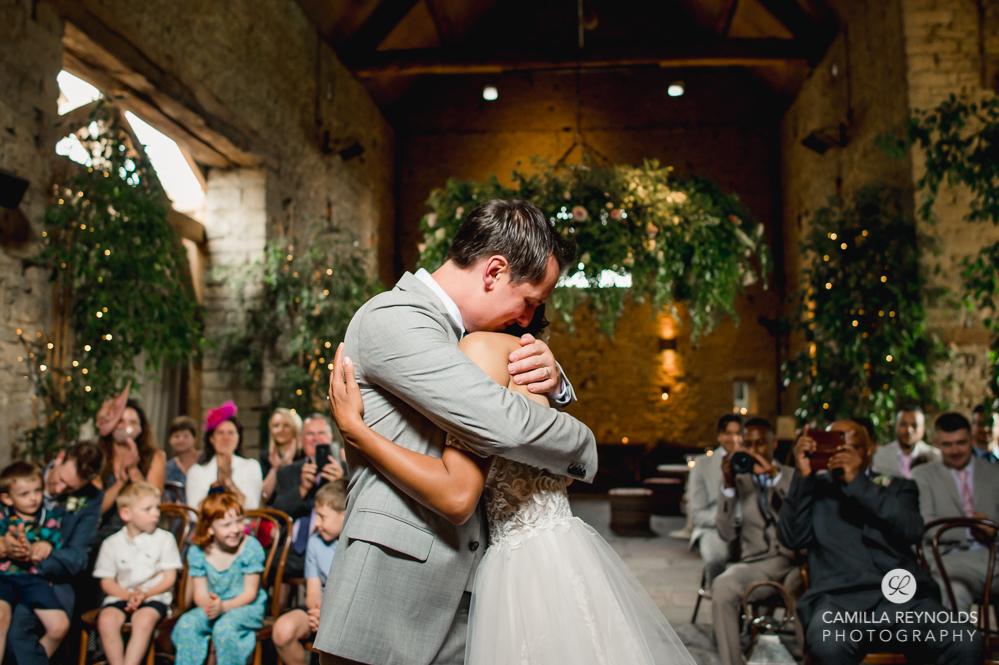 emotional wedding photography cripps barn uk