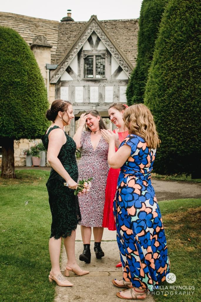 wedding st marys church painswick cotswolds