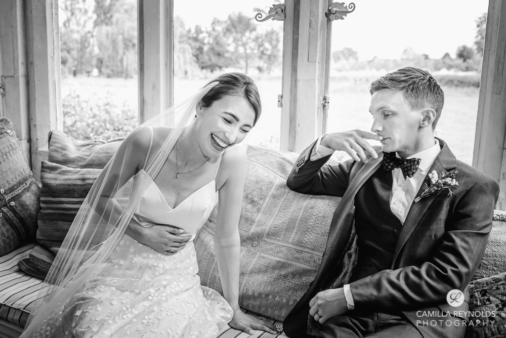 happy bride documentary natural wedding photography