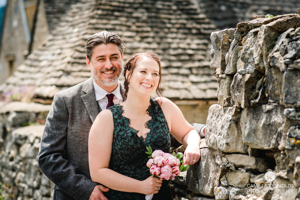smiling couple cotswold wedding venue