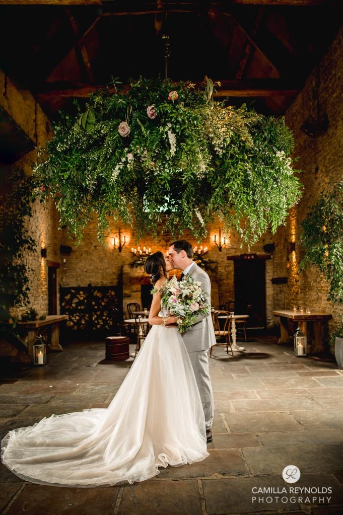 flower wheel decor cripps barn cotswold wedding photography