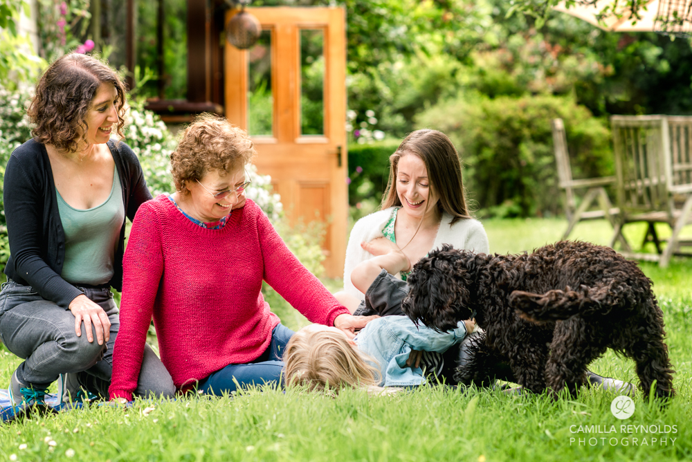 family and dog fun photo shoot cotswolds