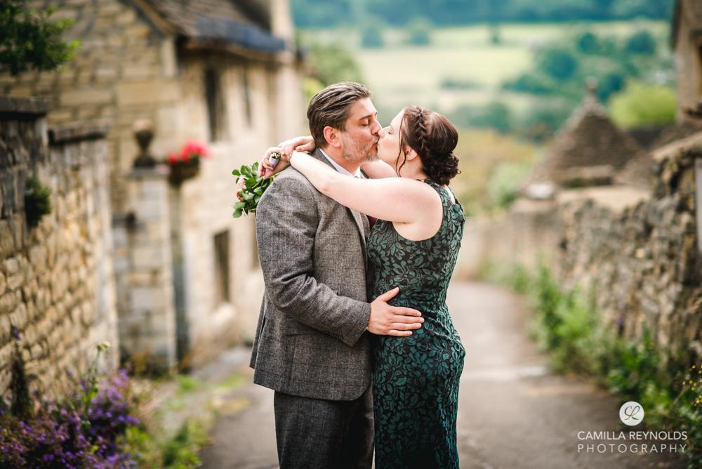 couple kissing engagement wedding photography
