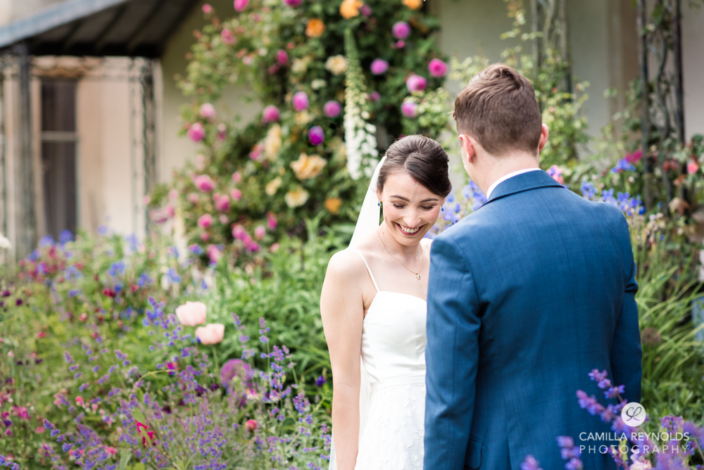 smiling bride elopement wedding photography cotswolds