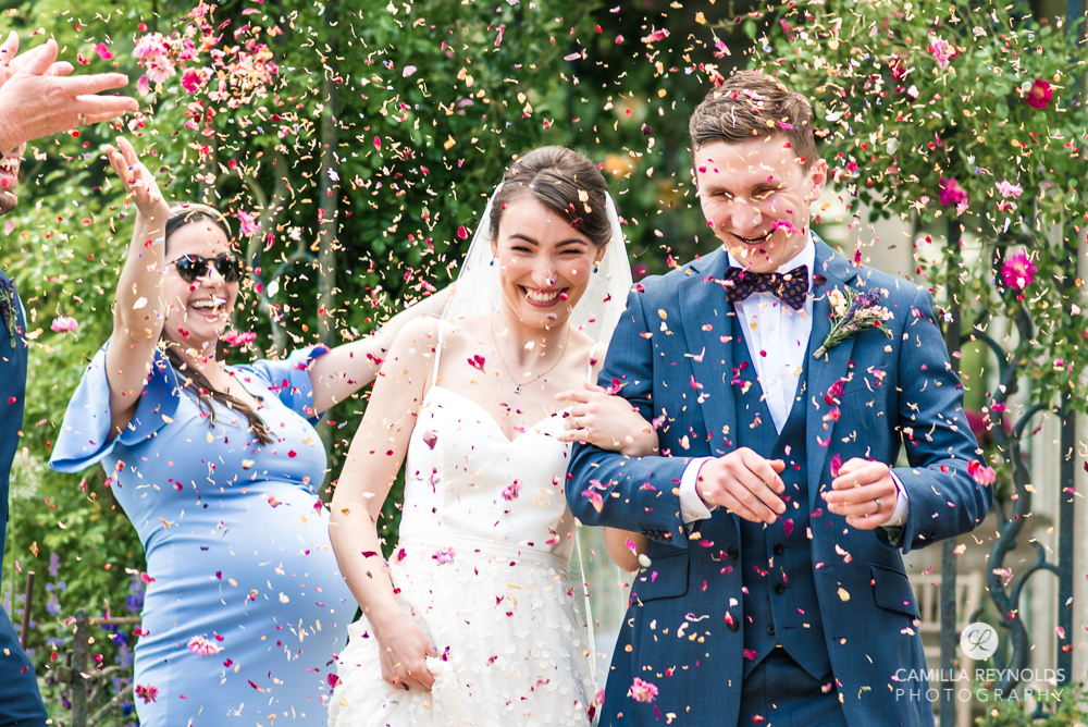 confetti throwing elmore cotswold wedding
