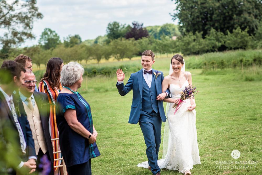 countryside garden wedding ceremony natural photography