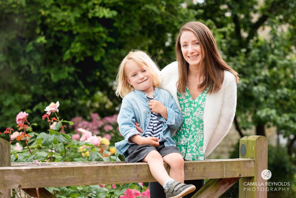 family photo english village Gloucestershire
