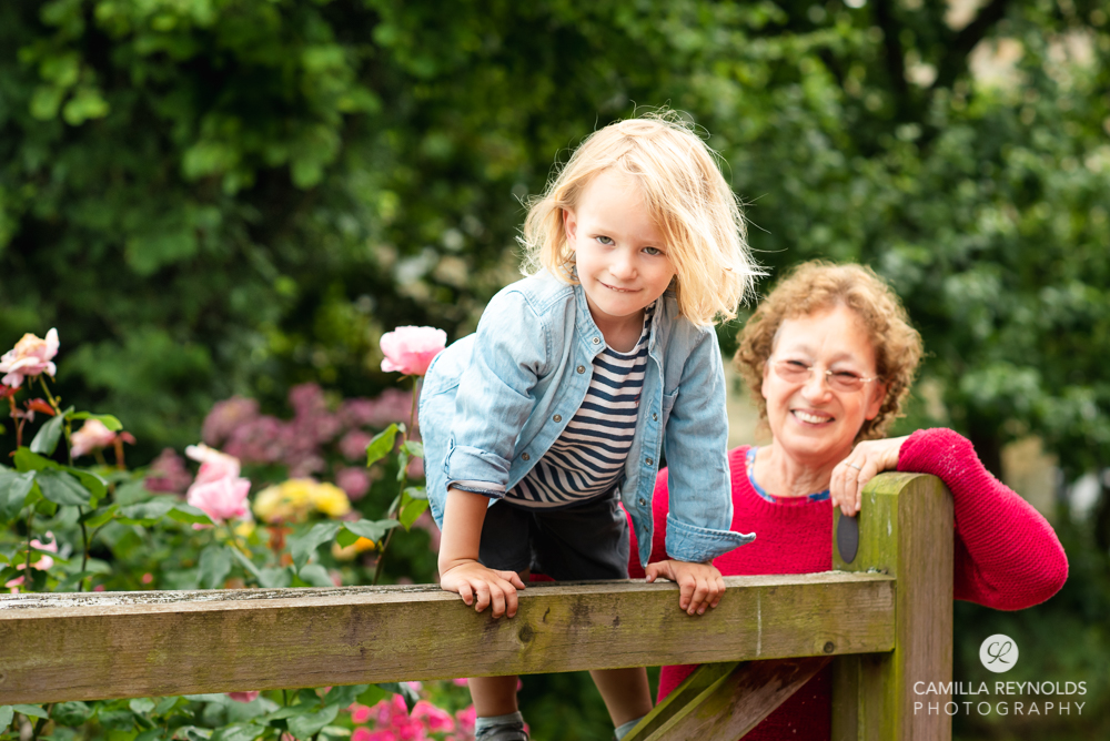 boy and grandma natural family photo shoot cotswolds