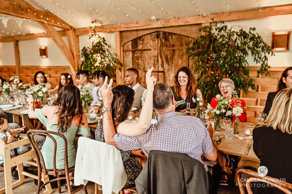 wedding reception fun photography cotswolds