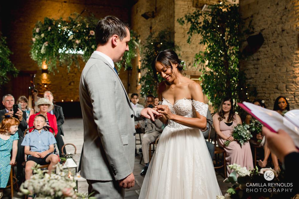 romantic wedding ceremony photography cotswolds uk