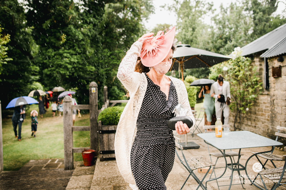 wet rainy wedding cripps barn photography uk