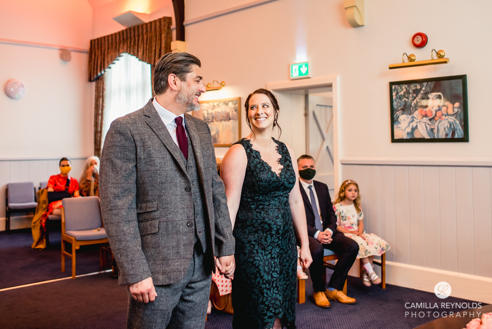 bride and groom wedding ceremony stroud registry office uk