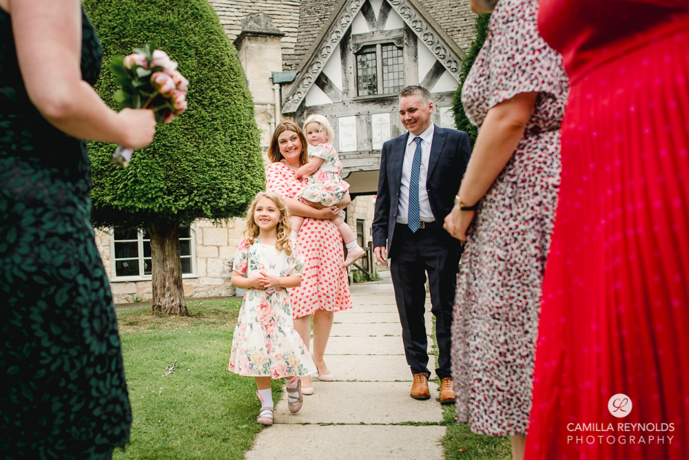 flower girl documentary wedding photography Cotswolds wedding