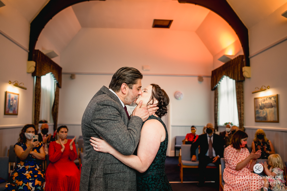 kiss the bride stroud registry office wedding photography