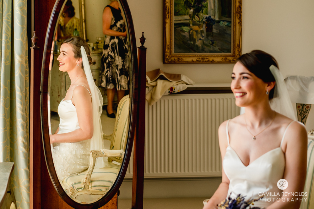 bride and mirror reflection matara centre wedding cotswolds