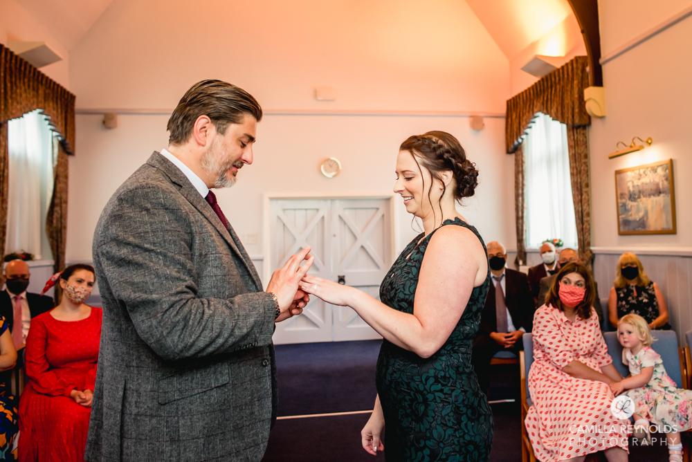 exchange of rings wedding ceremony stroud registry office