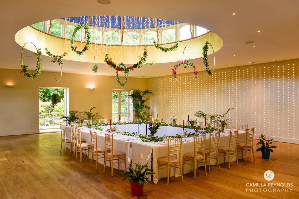 wedding table decor ideas floral hoops cotswolds matara