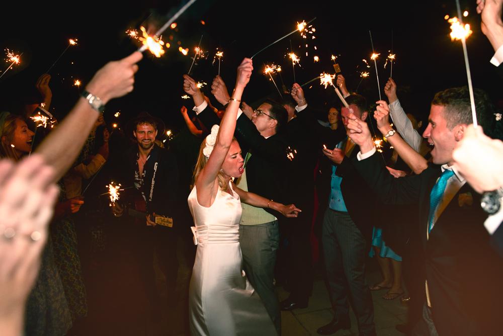 sparklers fun relaxed wedding photography Barnsley  uk
