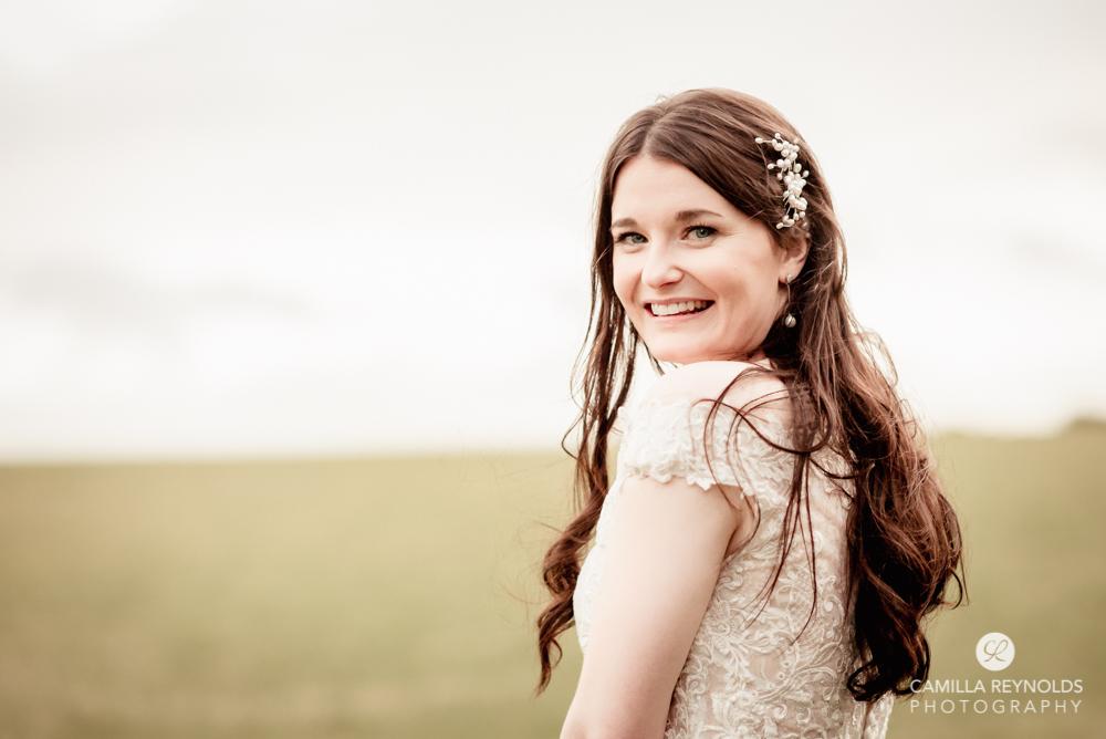 bride field natural wedding photography uk