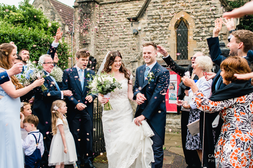 confetti shot cotswolds natural wedding photography