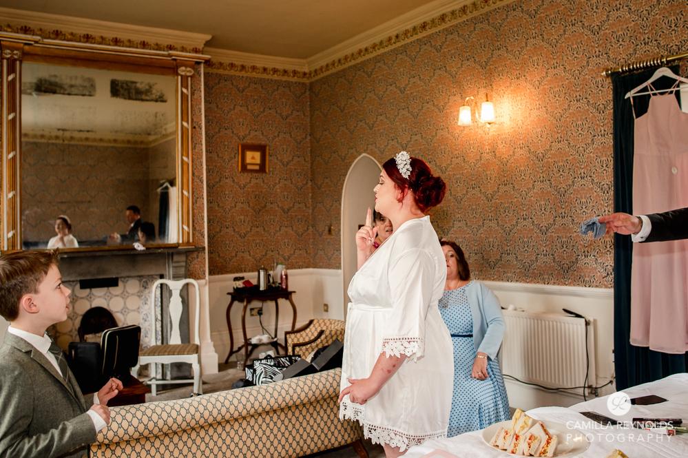 bride getting ready grafton manor worcestershire wedding