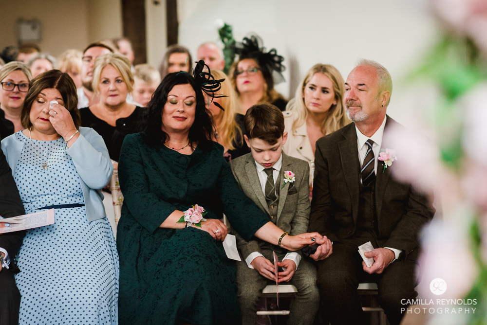 guests crying wedding worcestershire photography
