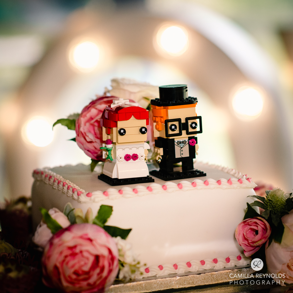 lego wedding cake bride and groom wedding photography uk