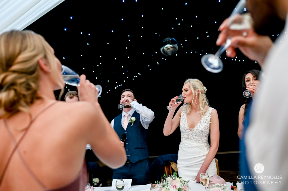 wedding toast natural photography wiltshire uk