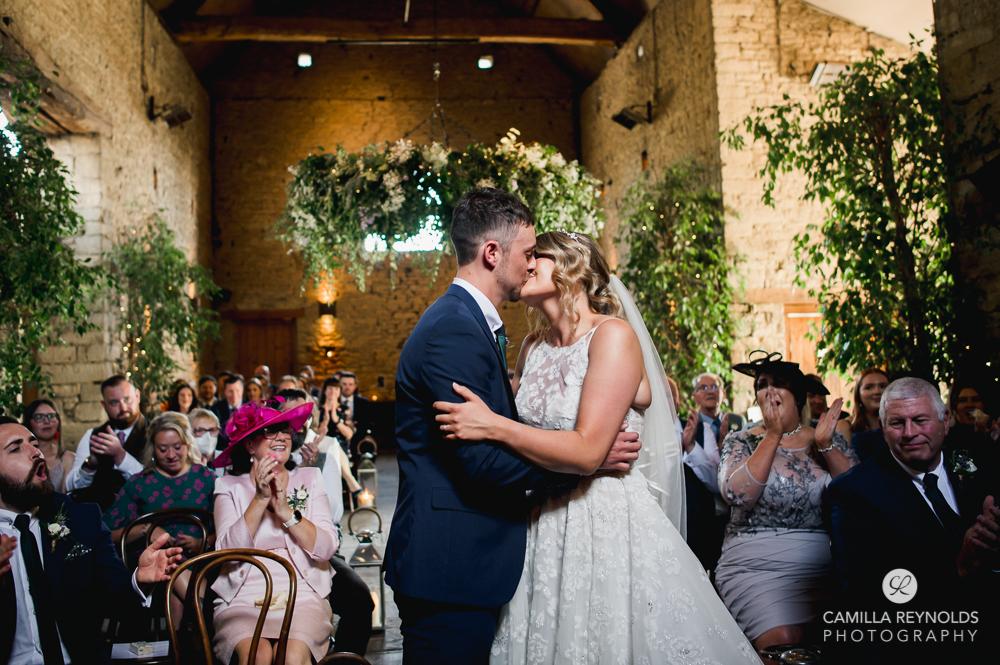 wedding ceremony cripps barn gloucestershire