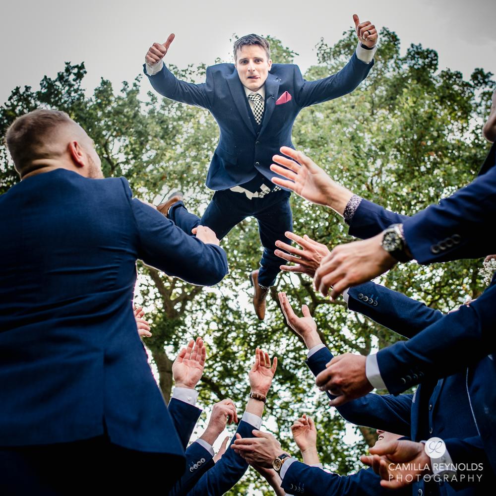 groom natural wedding photography Gloucestershire uk