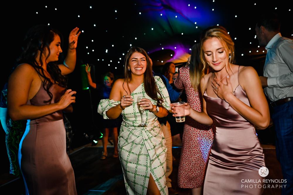 bridesmaids dancing fun natural  wedding photography london uk