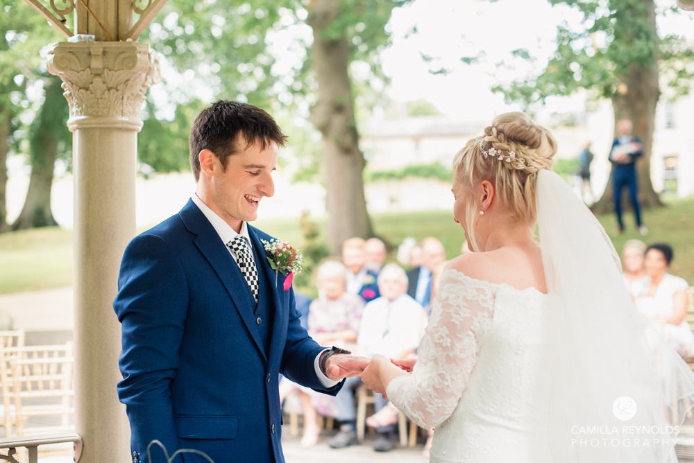 exchange of rings wedding cotswolds