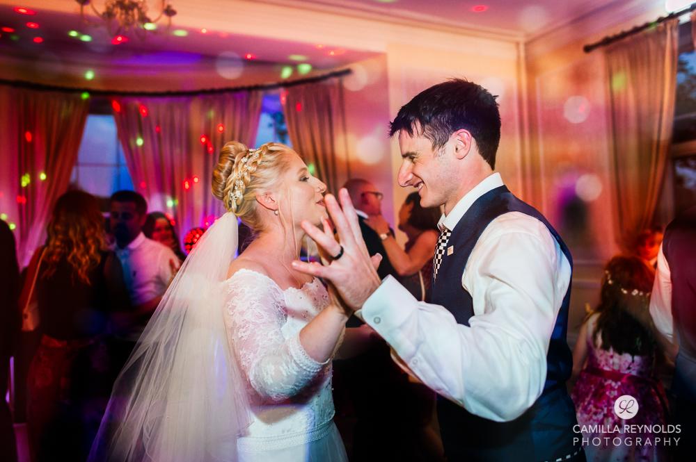 bride and groom first dance eastiington park wedding cotswolds uk