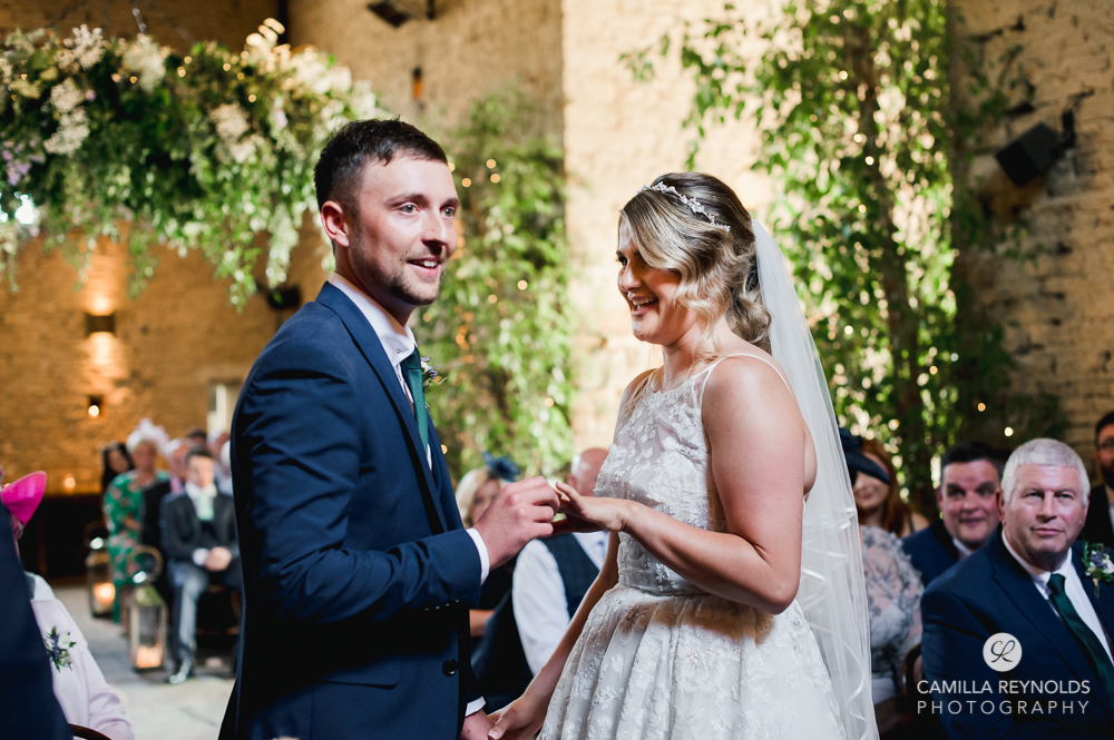 wedding ceremony  cripps barn cotswold photography